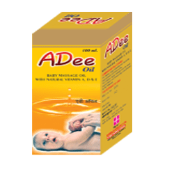 Baby massage oil with natural vitamins