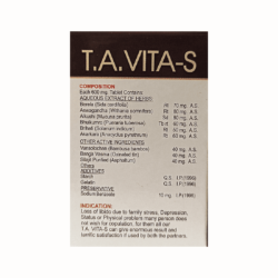Buy Herbal T.A VITA-S Tablets For Vigour and Vitality (Pack of 3)